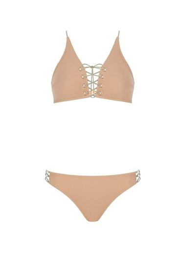 Sand and Blue Zinnia Bikini Somon